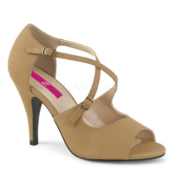 High Heel Sandalette taupe Nubuck DREAM-412